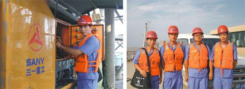 三一设备扬威万里长江第一桥——苏通大桥工程施工项目