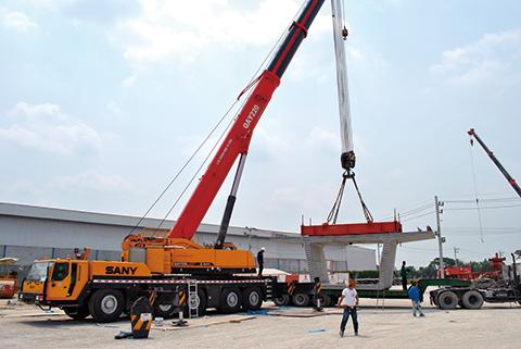 QAY220 参与泰国曼谷城市轻轨桥梁工程施工项目
