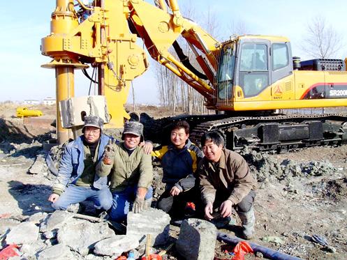 80余台三一旋挖钻机奋战在哈大线施工项目