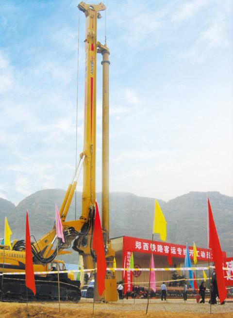 郑西铁路是我国中长期铁路规划中10条专线之一施工项目