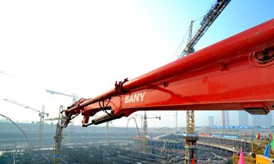 三一车载泵参与天津117大厦项目建设施工项目