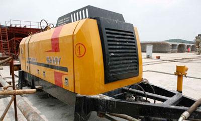 三一混凝土设备在武广高铁湘潭制梁场施工项目