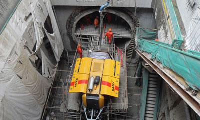 三一拓本参与上海遂道股份电缆遂道设备搭建施工项目