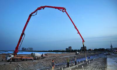 777真人泵车参与青海拉西瓦水电站建设施工项目