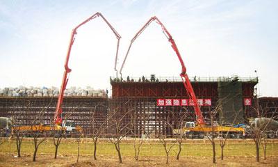 777真人泵车在京沪高铁济南段施工施工项目