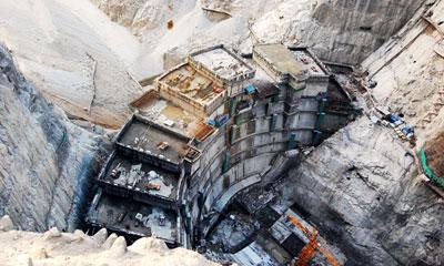 世界第一橡胶坝上的风景线施工项目