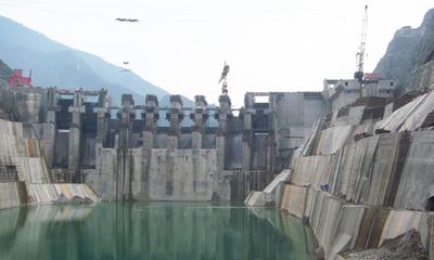 新宝GG泵车参与乌江银盘水电站建设施工项目