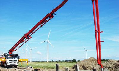 777真人混凝土设备参与德国不来梅发电风车建设施工项目