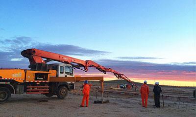 三一泵车参与蒙古Sanj Sant水泥厂泵送工程施工项目