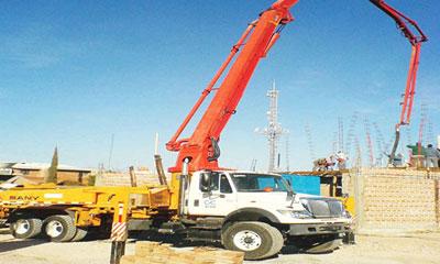 三一泵车参与墨西哥托雷翁市复合住宅群建设施工项目