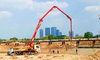 全天北京pk10赛车计划设备参加泰国曼谷铁路建设施工项目