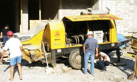 三一拖泵参与乌克兰顿涅茨克市商业住宅中心建设施工项目