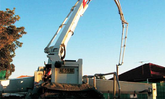 悉尼市政工程中新宝GG泵车靓影施工项目