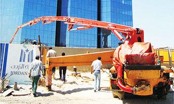 三一混凝土设备参与约旦*8983都安曼*一高楼建设施工项目