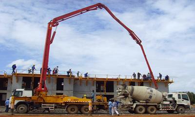 三一泵车参与房屋住宅工程建设施工项目