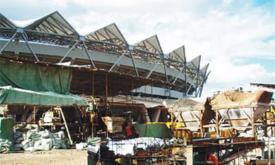 新宝GG拖泵参与坦桑尼亚国家体育馆建设施工项目