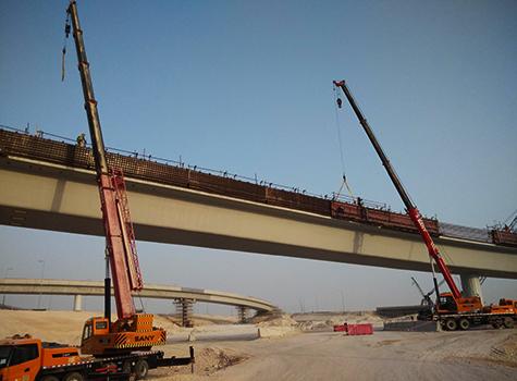 三一起重设备参与修建卡塔尔东部高速走廊施工项目