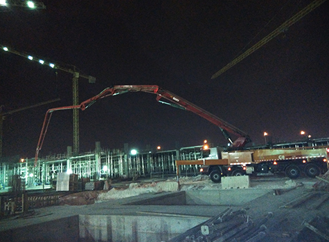 三一工程机械参与卡塔尔LUSAIL新城建设施工项目