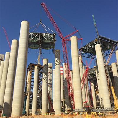 三一起重机援助非洲最大火电厂施工项目