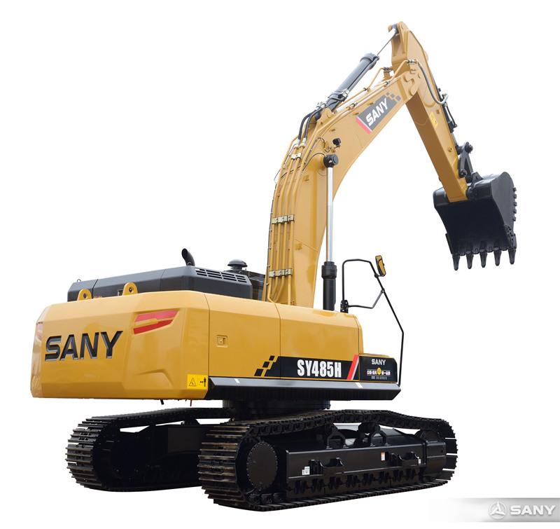 SY485H-10挖掘机侧面图