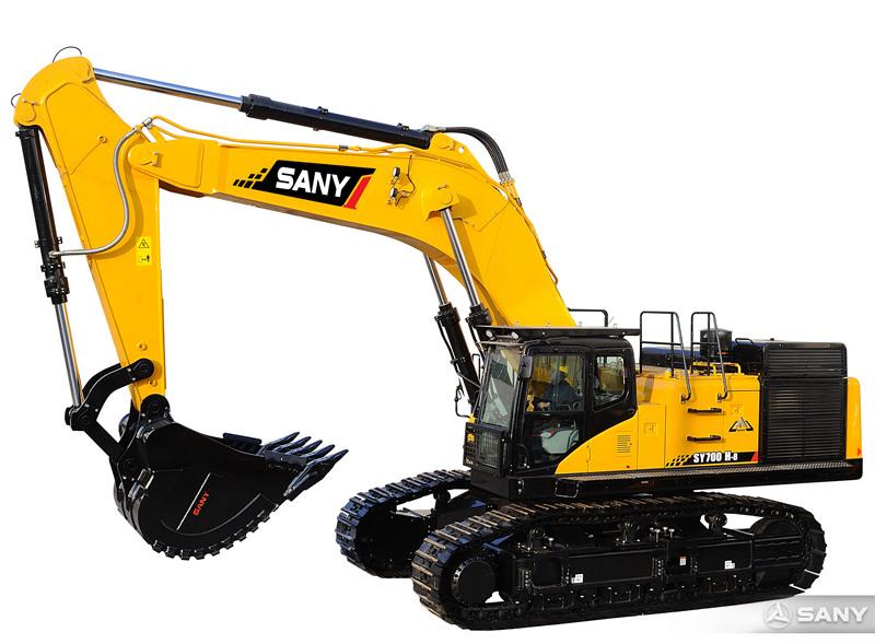 SY700H-8挖掘机侧面图