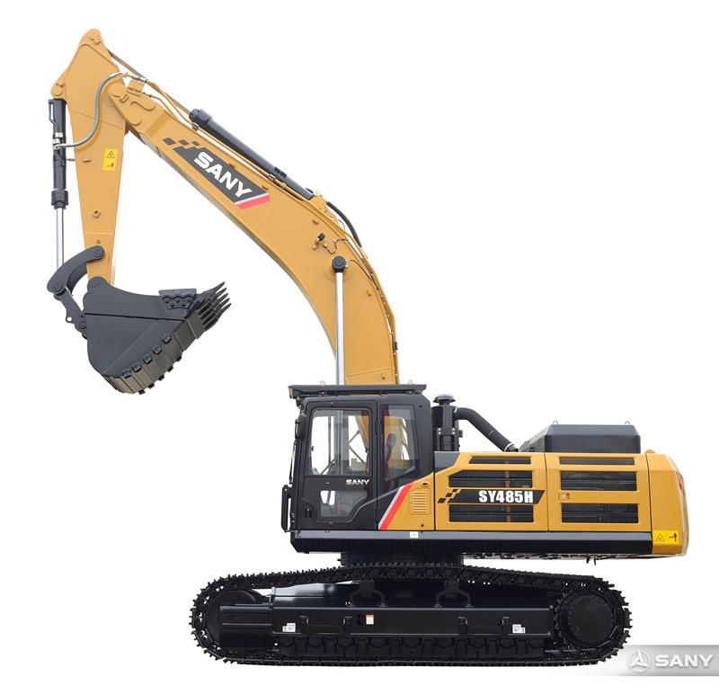 SY485H-10挖掘机外观图