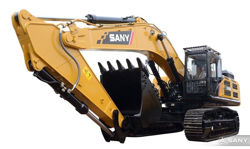 SY485H-10挖掘机正面图