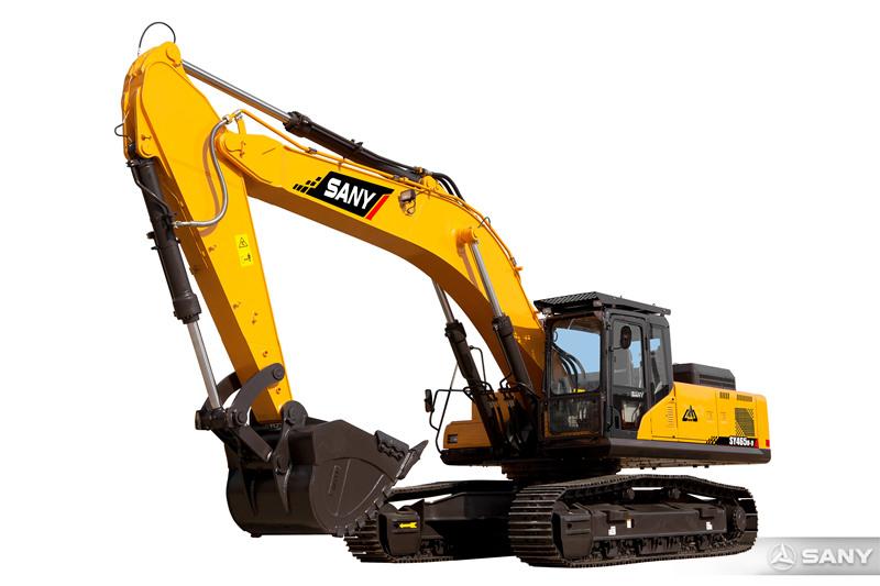 SY465H-9挖掘机正面图