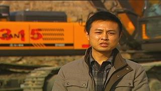 三一挖机山西阳泉荫营煤矿,采访张良飞