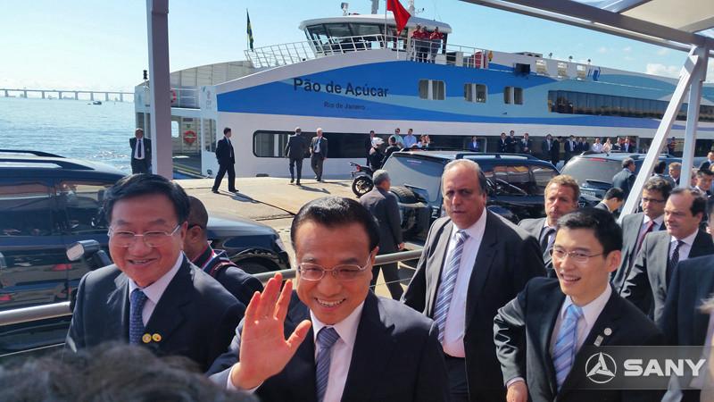 李克强总理访巴,与向文波等企业家亲切座谈