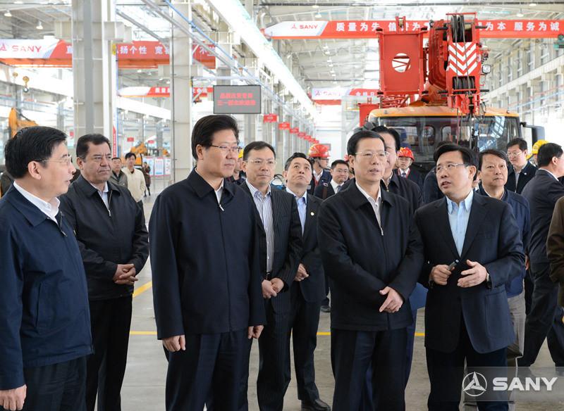 国务院副总理张高丽视察三一西北产业园