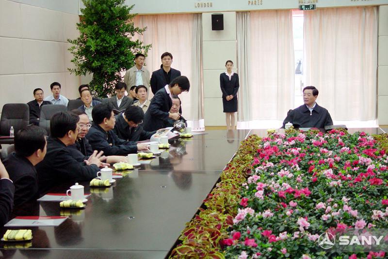 胡锦涛与三一公司领导座谈