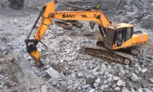 挖掘机破碎锤作业实操讲解 再也不用担心破碎伤机器了