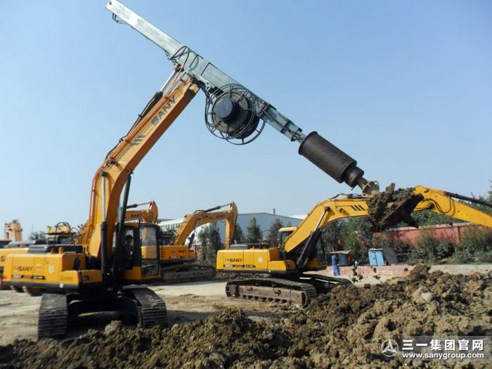 挖掘机改装旋挖钻机