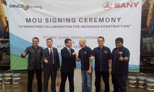 无插件直播重机印尼公司SANY Perkasa 与 MNC Leasing签署终端融资合作协议