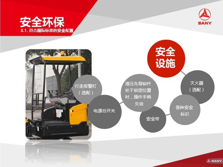 SY16C微型挖掘机安全环保,施工好帮手