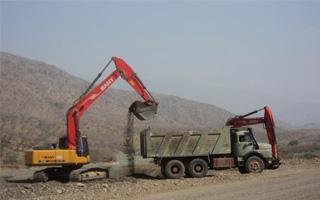 三一挖掘机施工案例之沙特