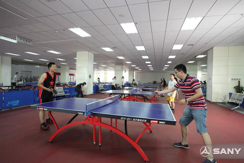 三一员工小区乒乓球运动