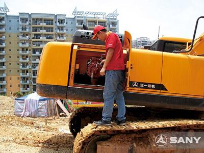 挖掘机每日启动发动机前的那些事