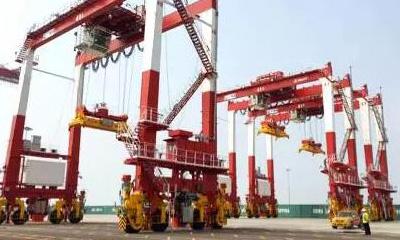 三一轮胎式集装箱门式起重机成为大型港口机械一张靓丽名片