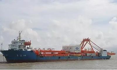 三一海工首台内河港岸桥成功发运起航
