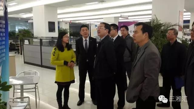 省经信委党组成员、副主任黄东红调研三一众创孵化器