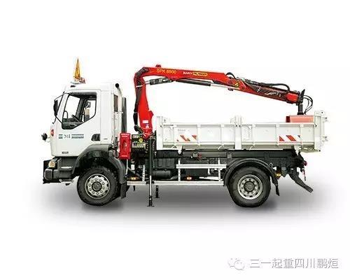 7.6吨米折臂随车吊随车起重机 SPK8500 简介
