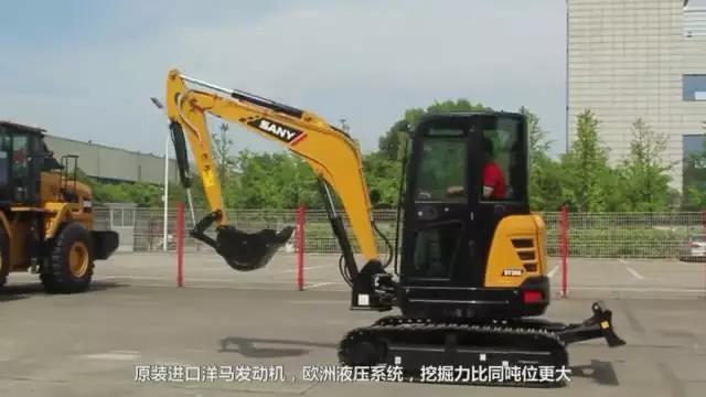 视频丨无尾灵活显神通 三一SY35U挖掘机优势详解