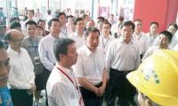 国务委员王勇参观三一救援设备展馆 赞扬三一为全球安全救援做出贡献