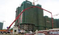 三一72米世界最长臂架泵车落户广州