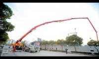 三一86米泵车现场施工闪耀上海