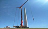 第十一台全球首款风电专用汽车起重机SSC1020C首吊完美落幕