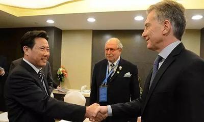 G20前夕 阿根廷总统马克里与梁稳根战略性会面