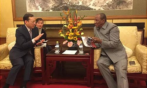 几内亚总统会见三一集团总裁唐修国,期待与三一深化合作